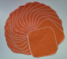 "Cloth Wipes 20 Flannel 8"" Orange Reusable Tp Baby Family Tissue 1 or 2 Ply"