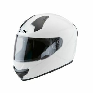 ZOX Thunder R2 Solid Full Face Motorcycle Helmet Adult XS, S Gloss White