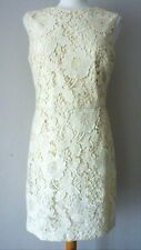 ZARA Womens Cream Lace Backless Pencil Knee Length Cocktail Dress L Large £49.99