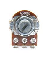 A500K ohm 16mm Long Shaft Volume Audio Control Potentiometer Guitar Mini Pot