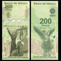 Mexico 200 Pesos, 2008, P-129, 200th COMM., UNC