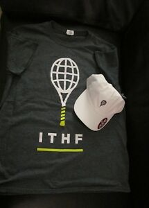 SUPER RARE! NEW International Tennis Hall of Fame t-shirt (size Large) and hat