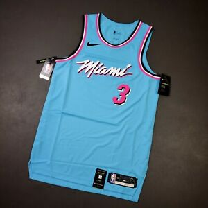 100% Authentic Dwyane Wade Nike Miami Heat ViceWave Jersey Size 44 M Mens