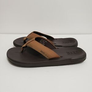 reef sandals size 9 mens brown