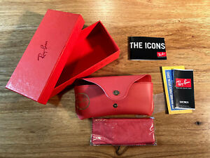 Ray Ban Red Rare Prints Case, Box, Cleaning Towel, Paperwork (No Sunglasses)