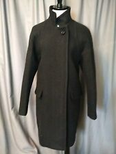 J CREW STADIUM-CLOTH STANDING-COLLAR COAT BLACK SIZE 12 NWT