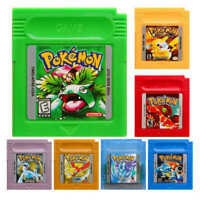 New 7 Pieces Game Cards Carts Color Version For Nintendo Pokemon GBC Game Boy US