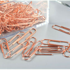 Rose Gold Paper Clips Metal Bookmarks Stationery Office Supplies 200Pcs
