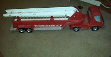 "Vintage Nylint Toys USA metal Aerial Hook N Ladder 30"" toy firetruck 1960's"