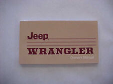 Jeep Owners Manual - 1987 Jeep Wrangler YJ