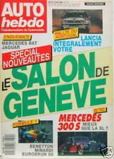 AUTO HEBDO 1988 MERCEDES 300 S LANCIA F1 BENETTON