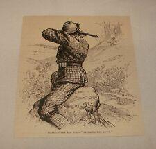 1886 magazine engraving ~ Shooting A Fox