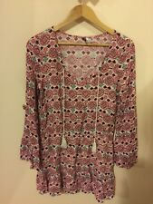 H&M Long Sleeve Floral Playsuit Size 8