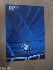 BMW 728i, 732i, 735i, Prospekt / Brochure / Depliant, English edition, 1.1983
