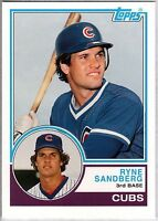 RYNE SANDBERG 2006 Topps Rookie Card RC Lot of 3 1983 Reprint Chicago Cubs HOF