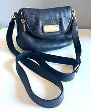 Marc by Marc Jacobs Mini Q Natasha Workwear Black Cow Leather Crossbody Bag