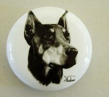 . Vladimir Great Dane Dog - White Round Paperweight