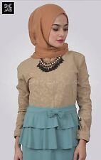 Safeea Tunic Nursing Vintage Jilbab Abaya brown mint