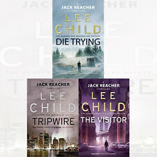 Jack Reacher Collection By Lee Child 3 Books Set Visitor,Tripwire,Paperback New