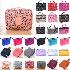 Women's Portable Zipper Cosmetic Toilet Wash Bags Lady Make Up Organizer Travel