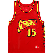 b519d127a Supreme SS18 Bolt Basketball Jersey RED Size Medium IN HAND