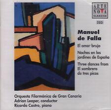 De Falla: El Amor Brujo and Others (CD, 1998 Arte Nova) Gran Canaria Orch/Leaper