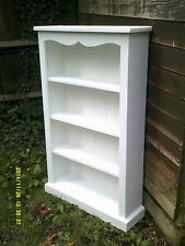 large bookcase chalky white shabby chic handmade