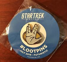 Loot Crate Exclusive Star Trek Online Vulcan Loot Pin (July 2016 Futuristic)