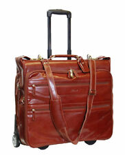 Leather Expandable Travel Suit Carriers & Garment Bags