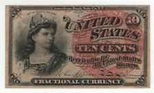 10 CENT FOURTH ISSUE FR.1257  POSTAL FRACTIONAL CURRENCY CIRCULATED VF/XF