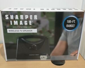 Sharper Image Portable Wireless TV Speaker 100-FT. Range