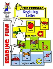 Kindergarten, First Grade Reproducible BEGINNING LETTER Flip Books (NEW)