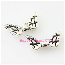 15Pcs Tibetan Silver Animal Wings Spacer Beads Charms 7x15mm