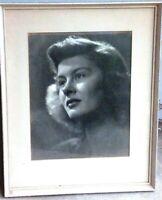 IGMAR BERGMAN ;  Actress      Photograph    Framed   Signed By Photographer