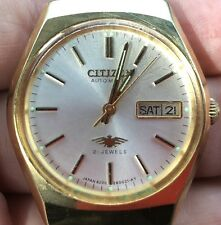 Vintage Citizen Gold Plated Automatic Watch