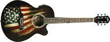 Oscar Schmidt 6 String OG10CE Cutaway Acoustic-Electric Guitar, USA Flag...