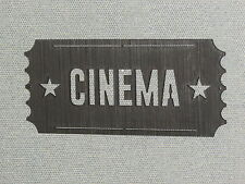 Large Cinema Ticket Wall Art Movie Theater Sign Art Decor