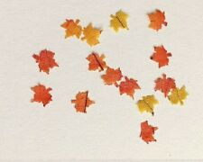 Dollhouse Miniature Fall Leaves - Package of approx 50 Leaves - 1:12 Scale
