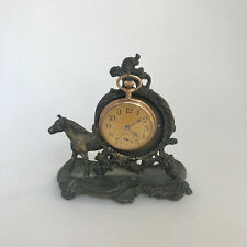 f305 Vintage Pocket Watch Jewelry Holder Stand Case Collectible Trussell Bronze