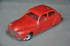 Vintage Chad Valley Harborne Heavy Red Litho Car Tin Toy , England