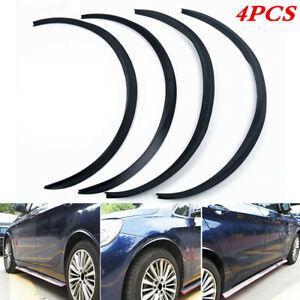 4PCS 28.7In Rubber Wheel Eyebrow Arch Trim Universal Car Lips Fender Strip Flare