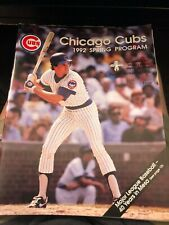 Ryne Sandberg Chicago Cubs Spring Training Program 1992 - MINT
