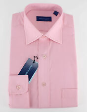 "Peter England Mens King Size Single Cuff Plain Pink Shirt 18h"" - 23"" 19 1/2"""