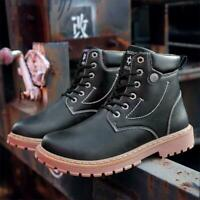 Men's Casual Warm Ankle Boots Fashion Military Boots Autumn Winter Snow Shoes Sz