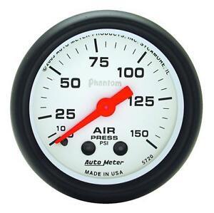 UNIVERSIAL DODGE FORD CHEVY AUTO METER 5720 PHANTOM SERIES AIR PRESSURE GAUGE.