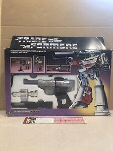 TRANSFORMERS MEGATRON VINTAGE 1983-1984 G1 NEAR COMPLETE W/ BOX