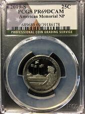 2019-S USA 'American Memorial NP' 25 Cent Coin - PCGS PR-69 DCAM