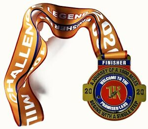2020 'RUN 1000 MILES CHALLENGE' FINISHERS SPINNER MEDAL RUNNING 1K RUN CLUB