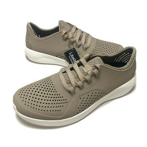 Crocs Mens Beige Literide Pacer M 204967-2ZB Closed Toe Casual Shoes Size 11
