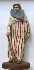 Crate Prospects Vintage Hand made Carved Wooden Patriotic Figure Statue RARE!